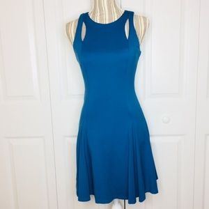 Ali & Jay teal fit and flare dress